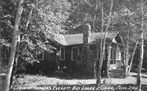 cabin at Everett Bay Lodge 1935