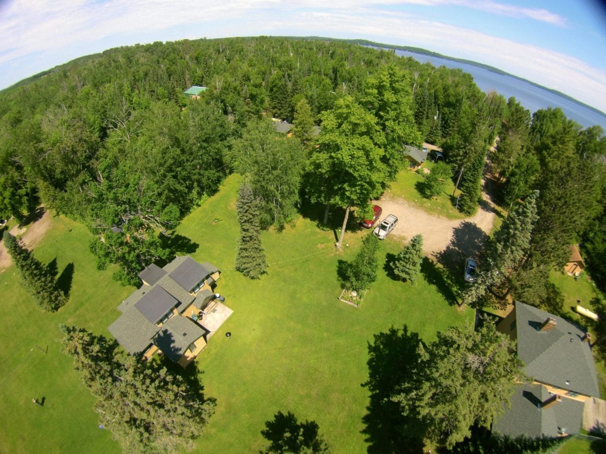 Aerial picture of Everett Bay Lodge