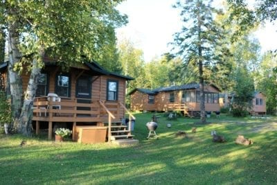 Everett Bay Lakefront cabins