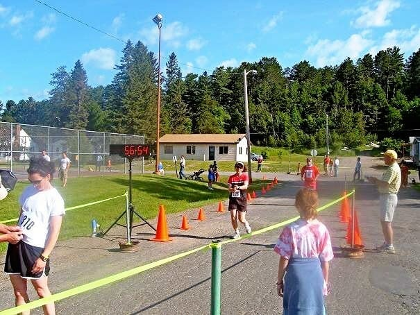 Lake Vermilion race finish line