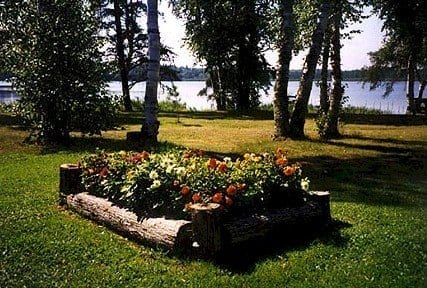 flower bed a lake vermilion lodge