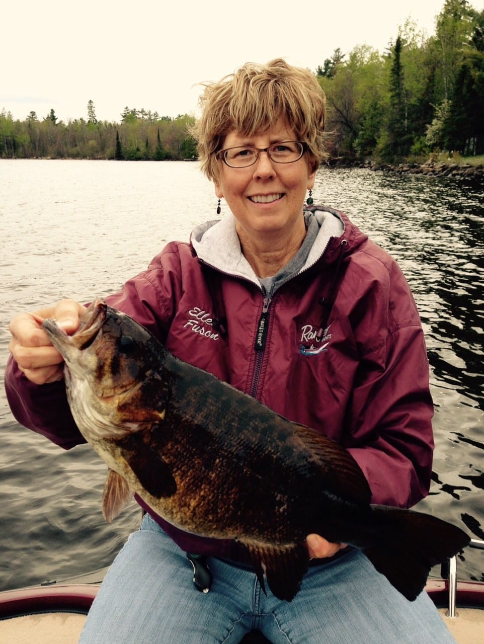 Lake Vermilion smallmouth bass and lady