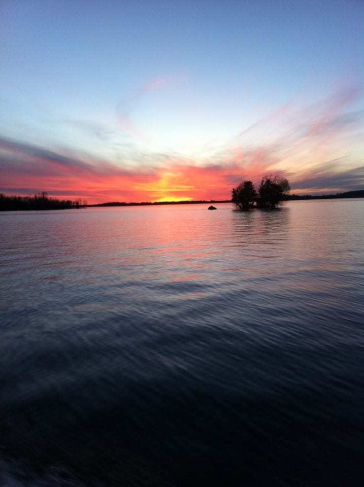 Minnesota lake sunset