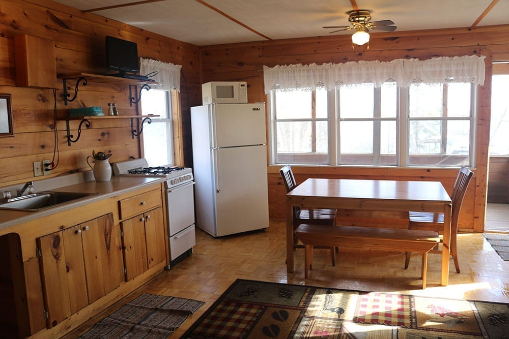 Minnesota resort cabin kitchen