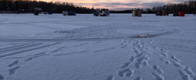 December ice fishing Lake Vermilion