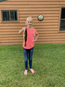 Young girl holding Lake Vermilion walleye
