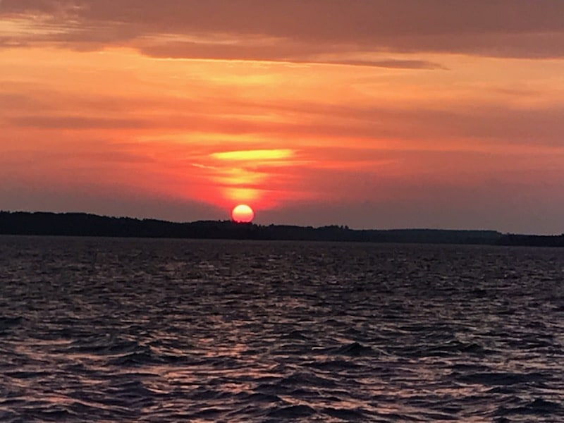 Lake Vermilion orange sunset